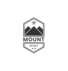 mountain sport logo design inspiration vector image