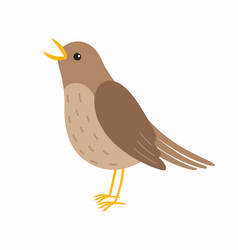 nightingale bird isolated on vector image