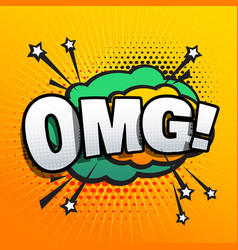 omg lettering comic text sound effect speech vector image