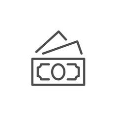 paper dollar banknote line icon vector image