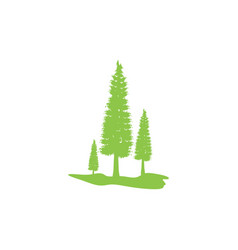 Pine tree icon design template isolated vector