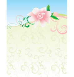 pink flower nature picture vector image