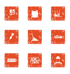 posting icons set grunge style vector image