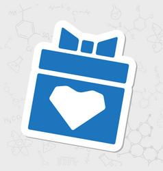Present heart icon vector