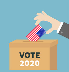 president election day vote 2020 ballot voting vector image