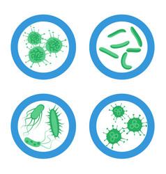 Probitics bacteria sign set vector