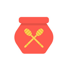red honey pot simple icon vector image