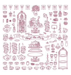 royal dishes tableware vector image