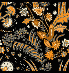 Seamless floral pattern with decorative vector