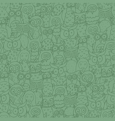Seamless square pattern with funny cartoon vector