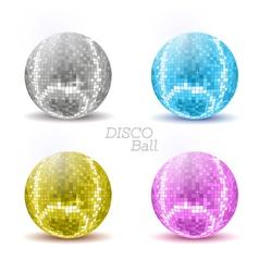 set of disco balls vector image