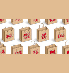 shopping bags seamless background backdrop for vector image