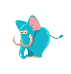 Smiling Blue Elephant vector image