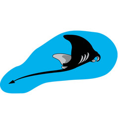 Sting ray logo mascot vector