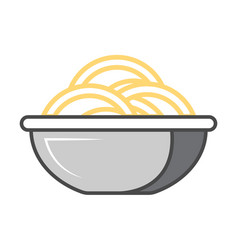 Traditional asian noodle isolated icon vector