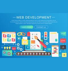 trendy flat gradient color web development vector image