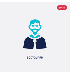 Two color bodyguard icon from discotheque concept vector