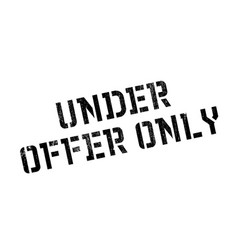 under offer only rubber stamp vector image