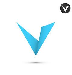 V letter icon vector image