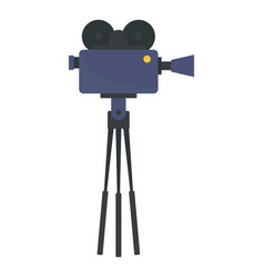 video camera film production icon flat style vector image