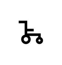 wheelchair icon symbol sign vector image