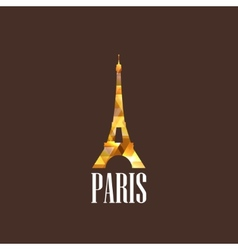with diamond eiffel tower vector image