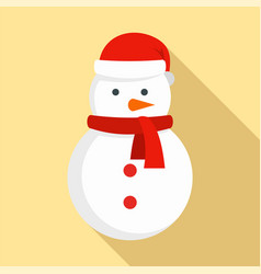 xmas snowman icon flat style vector image