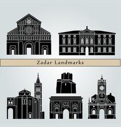 Zadar landmarks vector