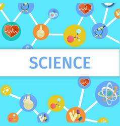 science inventions in chemistry and physics poster vector image