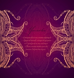 Abstract hand drawn grunge lace ornament vector image vector image