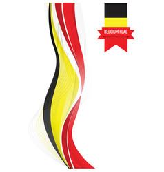 belgium flag background vector image vector image