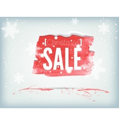 Christmass inky banner vector image vector image