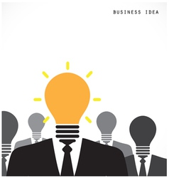 Creative light bulb with human head symbol vector image vector image