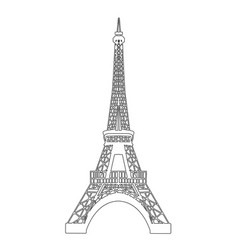 eiffel tower isolated on white vector image