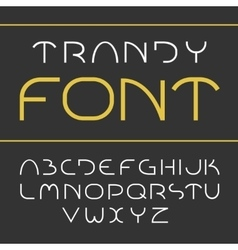 Elegant light font vector