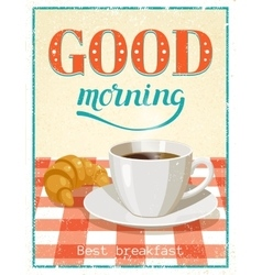 Good Morning Poster vector image