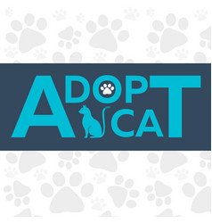 adopt logo dont shop adopt cat adoption concept vector image