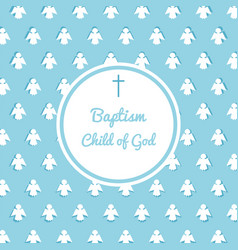baptism invitation template vector image