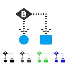 bitcoin algorithm scheme flat icon vector image