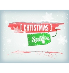 Christmass inky banner vector image