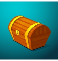 Closed treasure chest pirate treasure icon wealth vector image