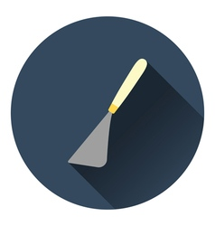 Palette knife icon vector image