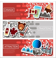 Set of horizontal banners about canada vector