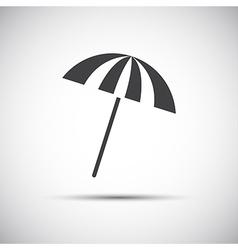 Simple grey beach umbrella vector image