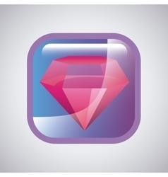 square with diamond icon vector image