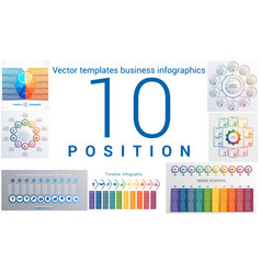 templates business infographics 10 positions vector image vector image