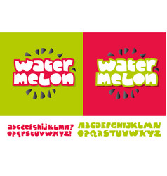 watermelon text for print and web vector image