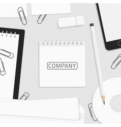 Corporate identity template for logo vector image vector image