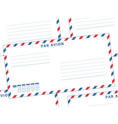 envelope seamless pattern vector image vector image