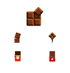 Flat icon chocolate set of cocoa wrapper vector